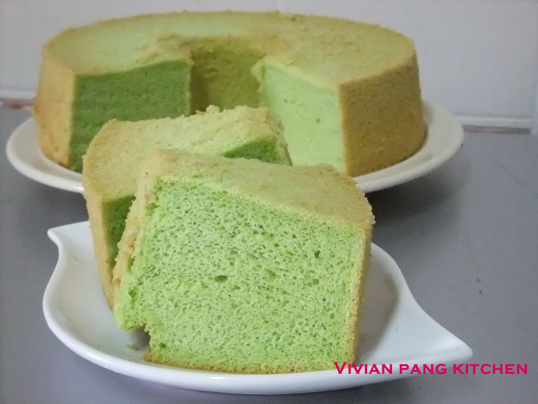 Vivian Pang Kitchen: Pandan Chiffon Cake