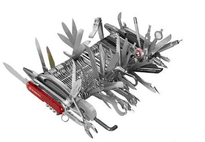 The Only Complete Swiss Army Knife, Hammacher Schlemmer Catalog Item 74670, $1,400.00