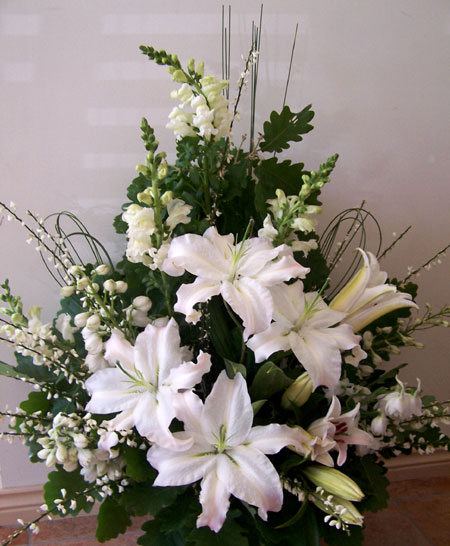 wedding arrangements for church