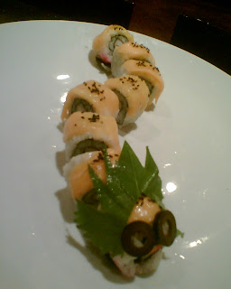 yellow caterpillar sushi maki