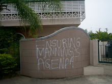 Graffitti outside Environmental Authority (some time in 2008)