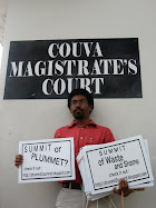 20th April, 2009, Michael Parris outside Couva Magistrate's Court
