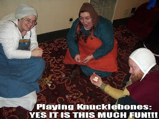 Playing knucklebones: yes it is this much fun!!!