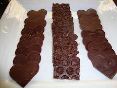Laminas de chocolate semiamargo