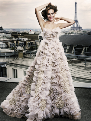 Wow this would be a show stopping wedding dress for a total fashionista