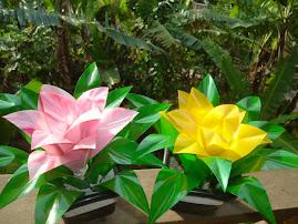 Flores de Garrafas PET.