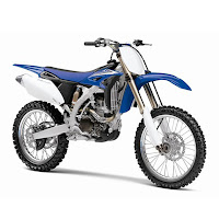 Blue YZ250F trail adventure