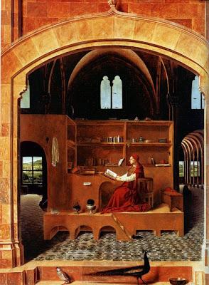 San Jerónimo en su lectorium, Antonello da Mesina