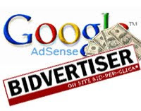 Google Adsense dan Bidvertiser
