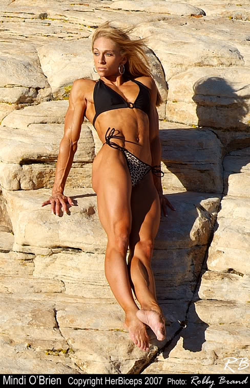Mindo O'Brien Female Muscle Pro Fitness Competitor