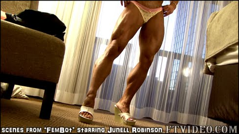 Junell Robinson Female Bodybuilder Fembot FTVideo