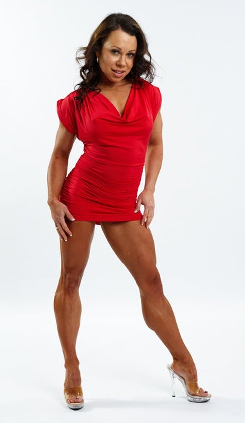 Sara Picken - Brown Female Muscle Legs Figure Competitor