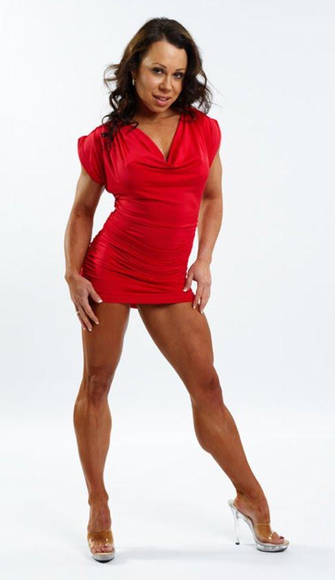 Sara Picken - Brown Female Muscle Legs Figure Competitor