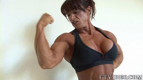Lisa Bruton Female Muscle Bodybuilder Biceps