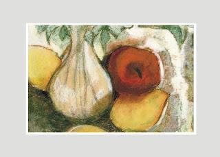 martwa natura jabłko