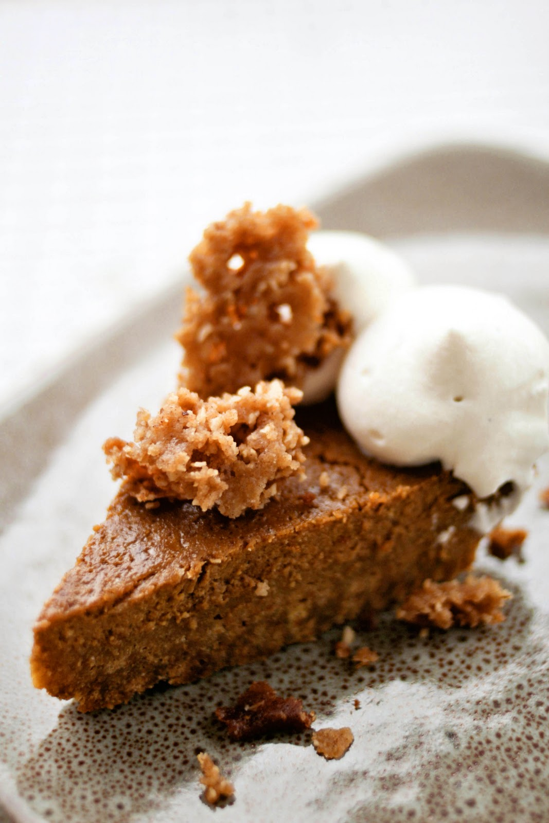 ... : Pumpkin Pie with Cinnamon Crunch and Bourbon-Maple Whipped Cream