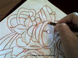 Tecnicas paso a paso gamuza pirograbada - Aprender a pintar en madera ...