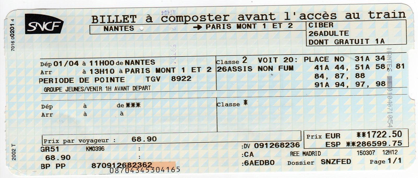 Rservation SNCF
