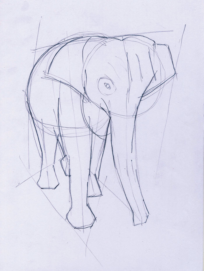 Menggambar Gajah Belajar