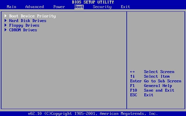 BIOS : Önyükleme (Boot) Önceliğini Değiştirmek