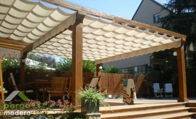Pin fotos de pergolas terrazas decks y cobertizos en - Pergolas de madera fotos ...