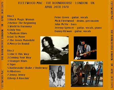 Fleetwood Mac - The Roundhouse London - UK - April 24th 1970