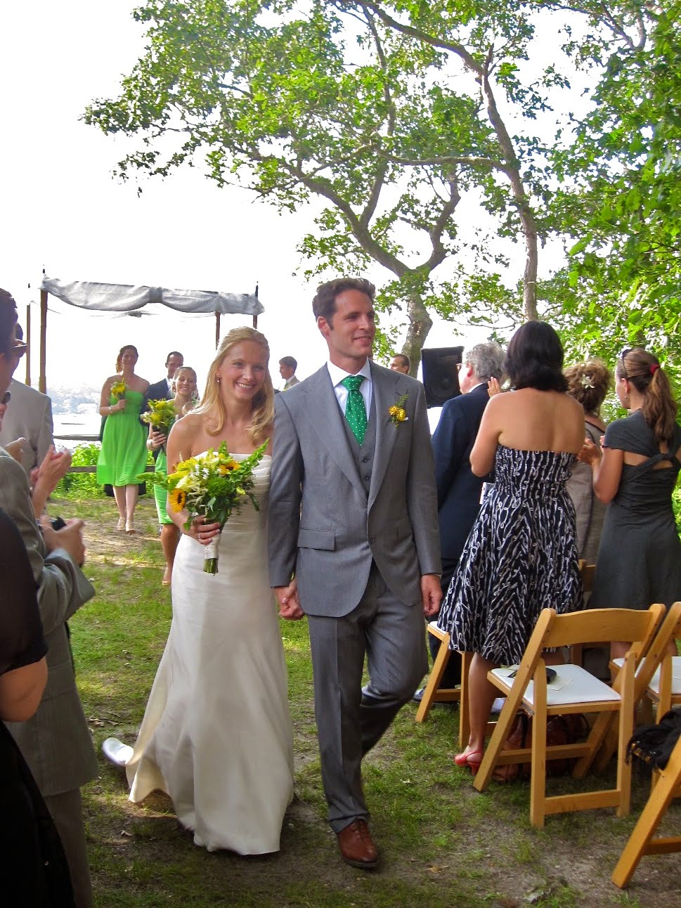Live creating yourself marthas vineyard wedding style bridesmaids went the jew route all wearing different styles in the same color groomsmen were told to wear a suit and had matching ties ombrellifo Images