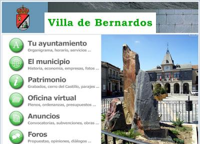 Página web del Ayuntamiento de Bernardos