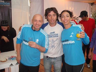 en la maraton  de Rosario con un famoso presentador de mi Pais
