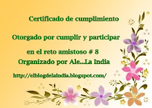 Certificado del reto nro8 por Ale la india