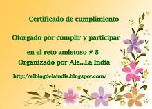 Certificado del reto nro8 por Ale la india