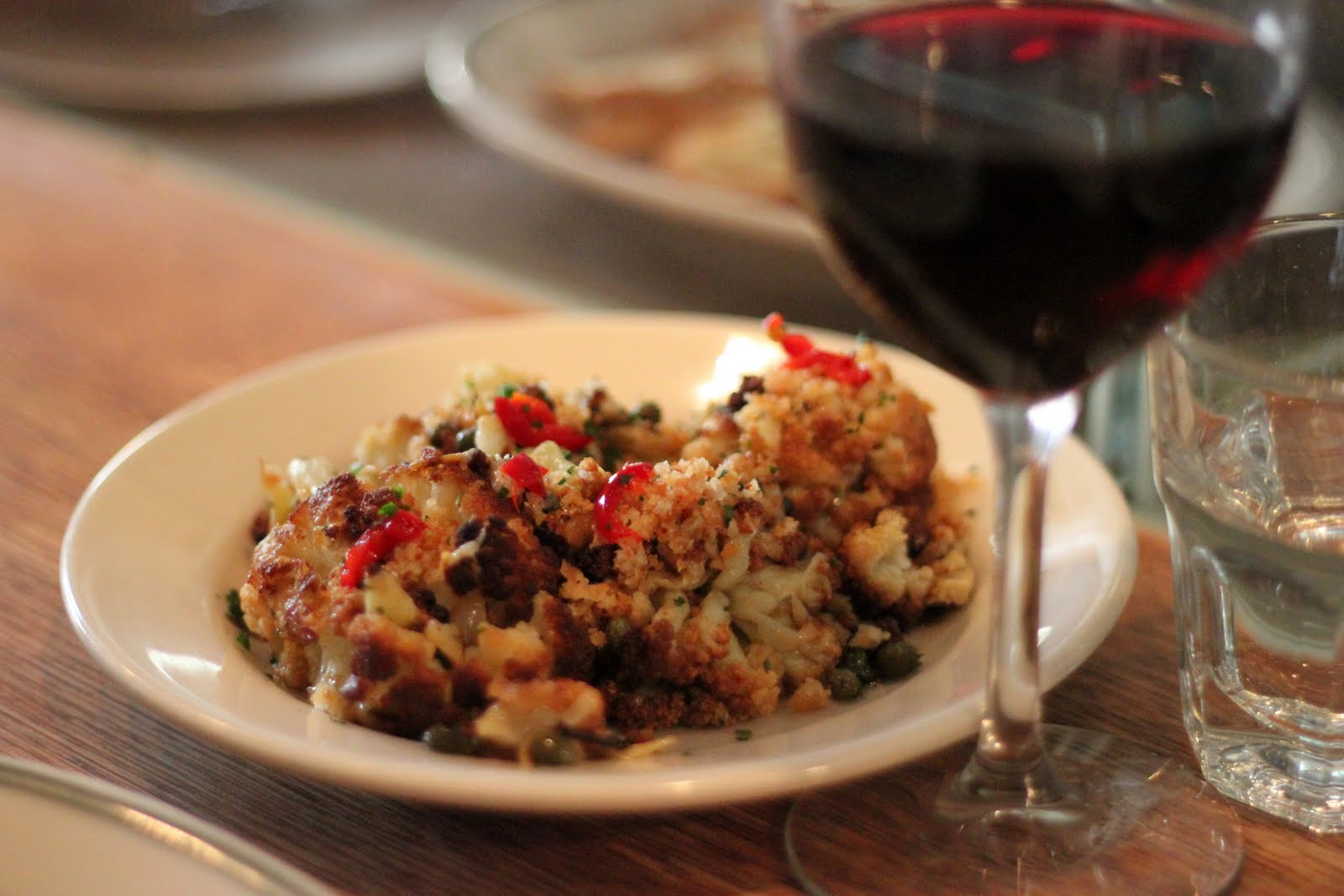 Spicy cauliflower with garlic, capers, breadcrumbs & Calabrian chilies ...