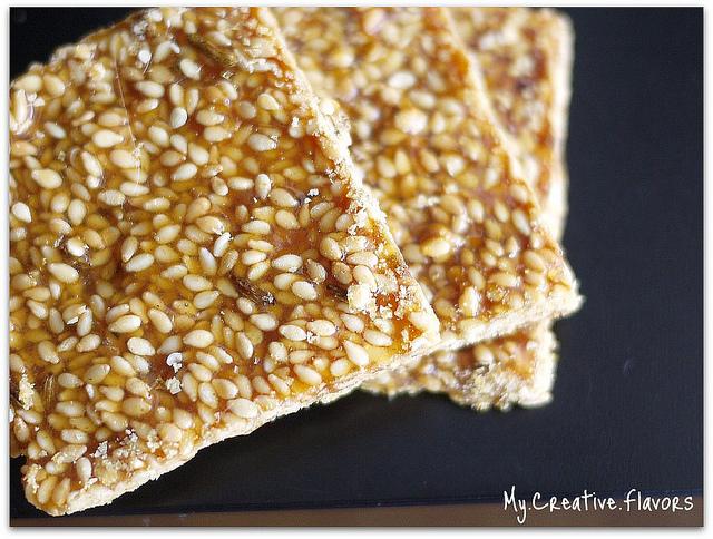 My Creative Flavors: Crispy Sesame Brittle Thins or Til Ki Gajak