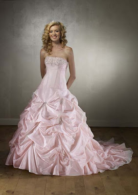 beautiful pink wedding dress