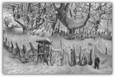winter drawings arts