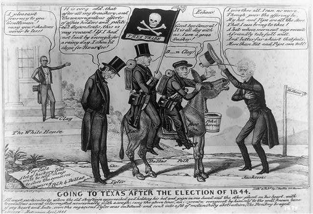 Image result for john tyler impeachment cartoon
