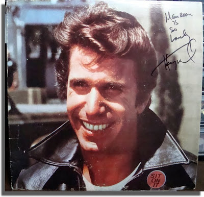 Winker autograph on Happy Days album