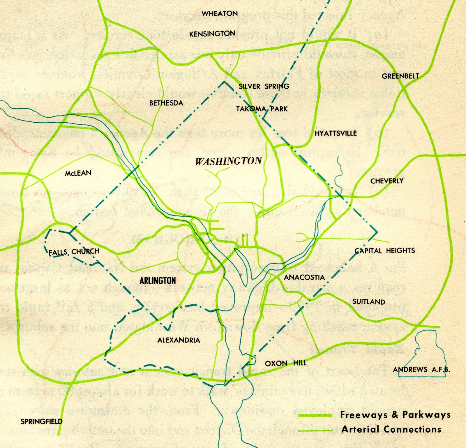 A Trip Within The Beltway JFK Administration DC Freeway System - Washington dc interstate map