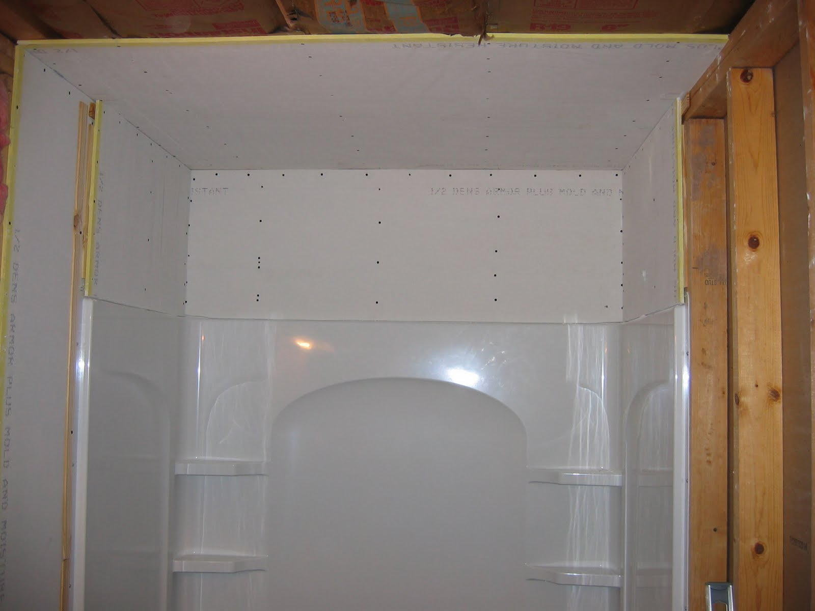 Bathroom drywall 28 images soundproof installation for Drywall or cement board for shower
