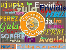 PREMIO OTORGADO POR EL BLOG PECADOS