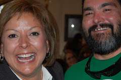 Candidate Martinez Shares a Laugh with South Valley's Arturo Uribe At Announcement