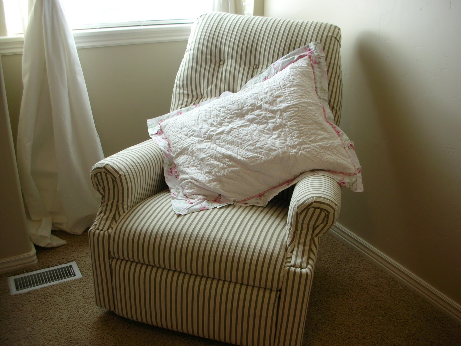 rocking chair start to finish upholstery - YouTube