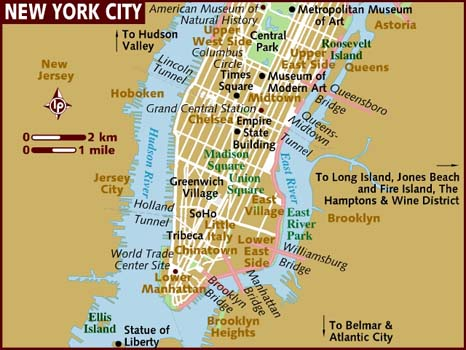 map new york city