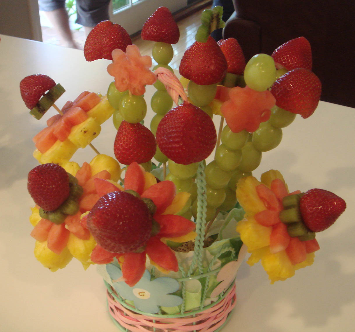 beautiful fruits for baby shower centerpiece ideas