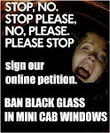 Support the Ban of Blacked-out Windows in Licensed Minicabs