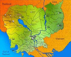 Cambodia's map