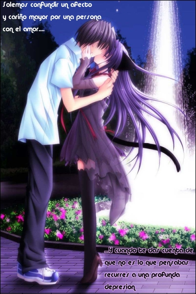 amor anime. mensajes de amor emo