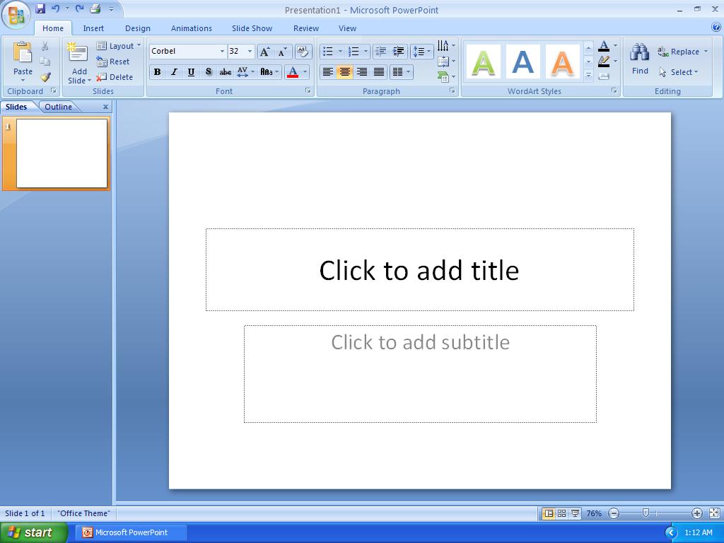 Как сделать слайды для презентации майкрософт