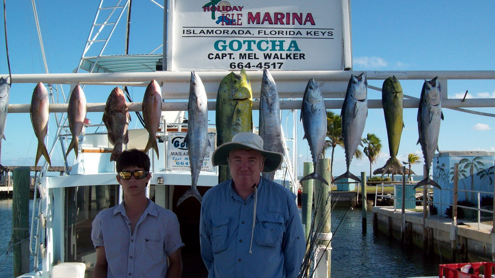 Craig Conway and Grant Meiring from Edgewater, FL had a good catch of fish ...