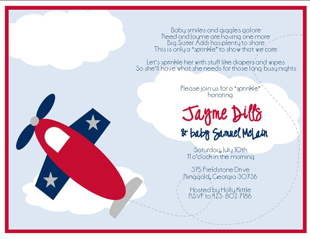 airplane invitations sweet peach paperie